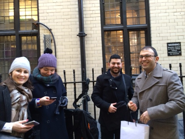 New friends in the queue for Liberty Open Call!