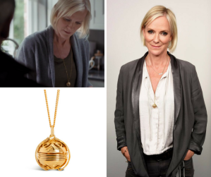 Actress Hermione Norris wears The Lily Blanche Memory Keeper in the television series Cold Feet